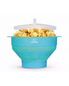 PoPuP Szilikon popkorn készítő, összecsukható, kék