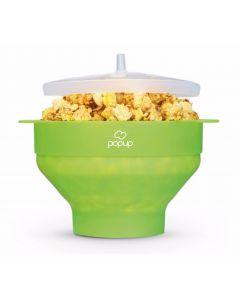 PoPuP Szilikon popkorn készítő, összecsukható, zöld