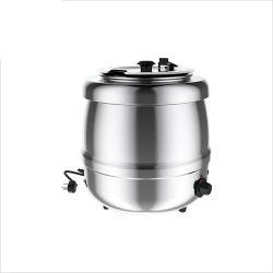Vízzel fűtött leves melegítő, rozsdamentes acél, 400W, 10L kapacitás